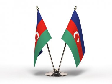 Miniature Flag of Azerbaijan (Isolated)