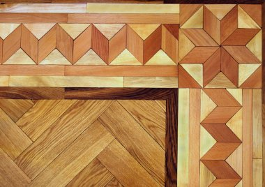 Wooden Parquet Floor Texture Background
