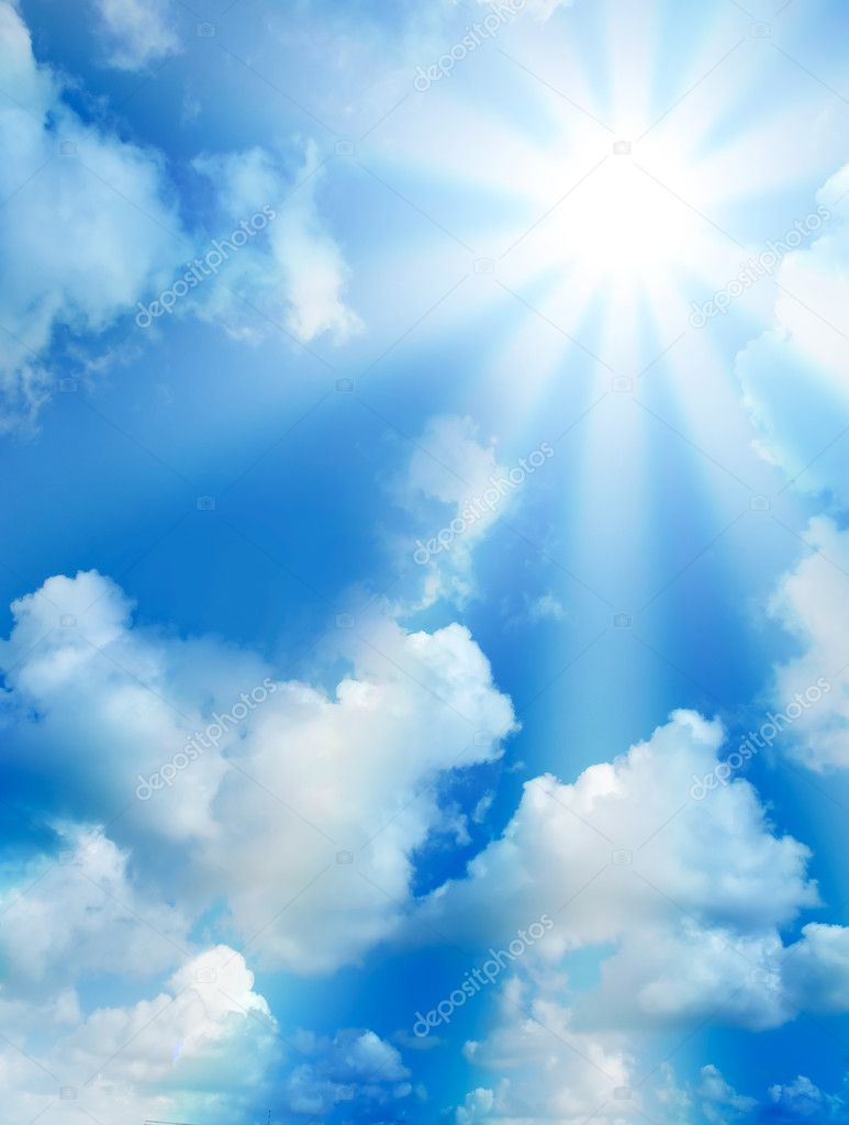 High quality sunny sky with clouds — Stock Photo © lollok
