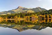 Fotografie Blick auf See und Berge am Schwarzsee - Kitzbühel ein