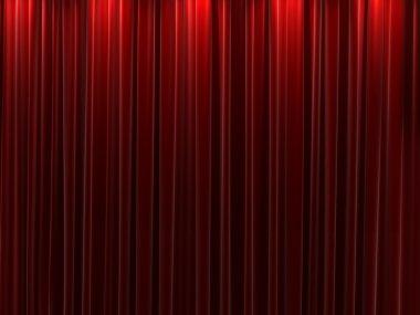 Red velvet curtains background