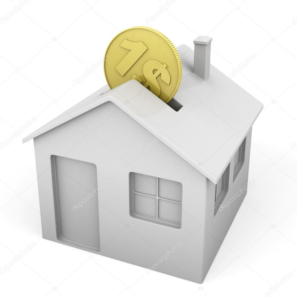 Salvadanaio a forma di casa foto stock arquiplay77 for Casa a forma di v