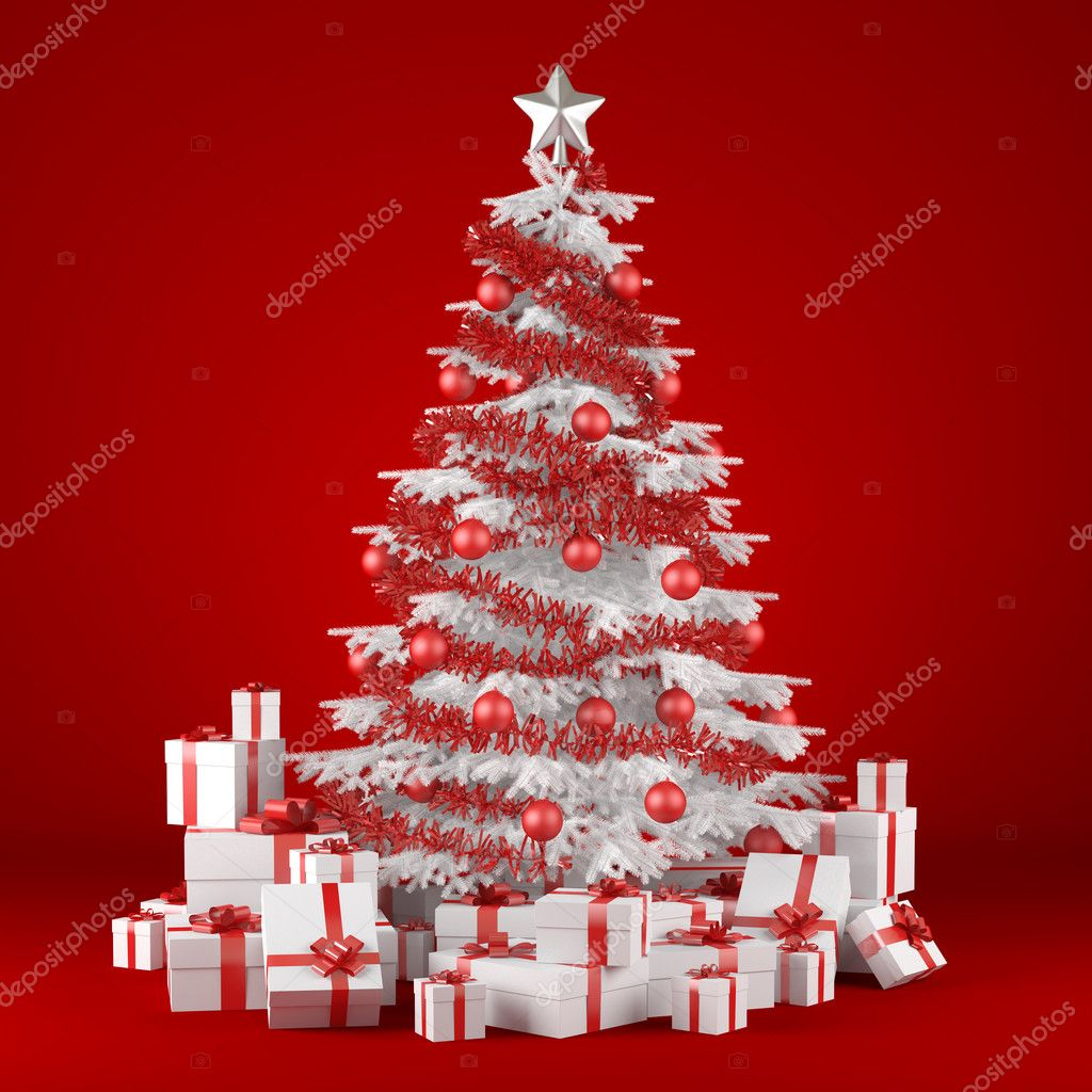 Decorated Live Christmas Trees
