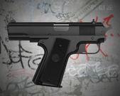 Fotografie selbst zeigenden Waffe
