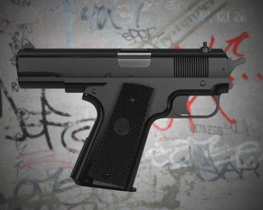 Self-pointing gun