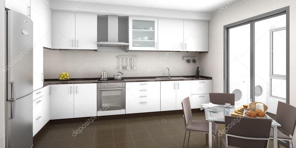 interni cucina — Foto Stock © arquiplay77 #8205485