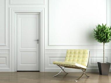 Classic white interior