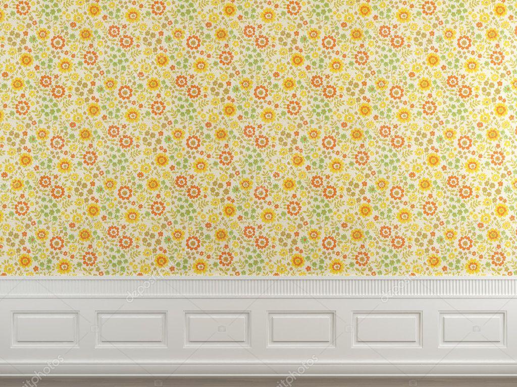 Flowery wallpaper wall