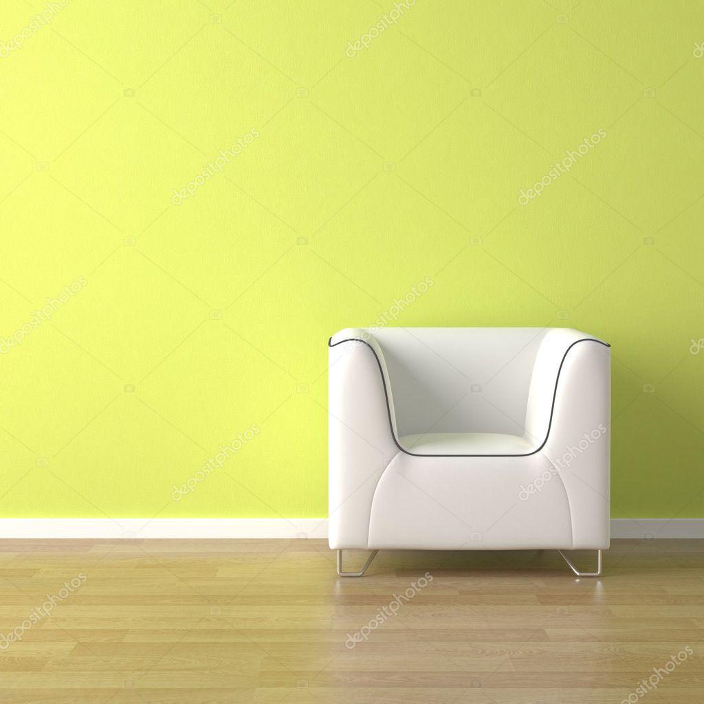 Design Luie Stoel.Interieur Design Witte Luie Stoel Op Groen Stockfoto C Arquiplay77