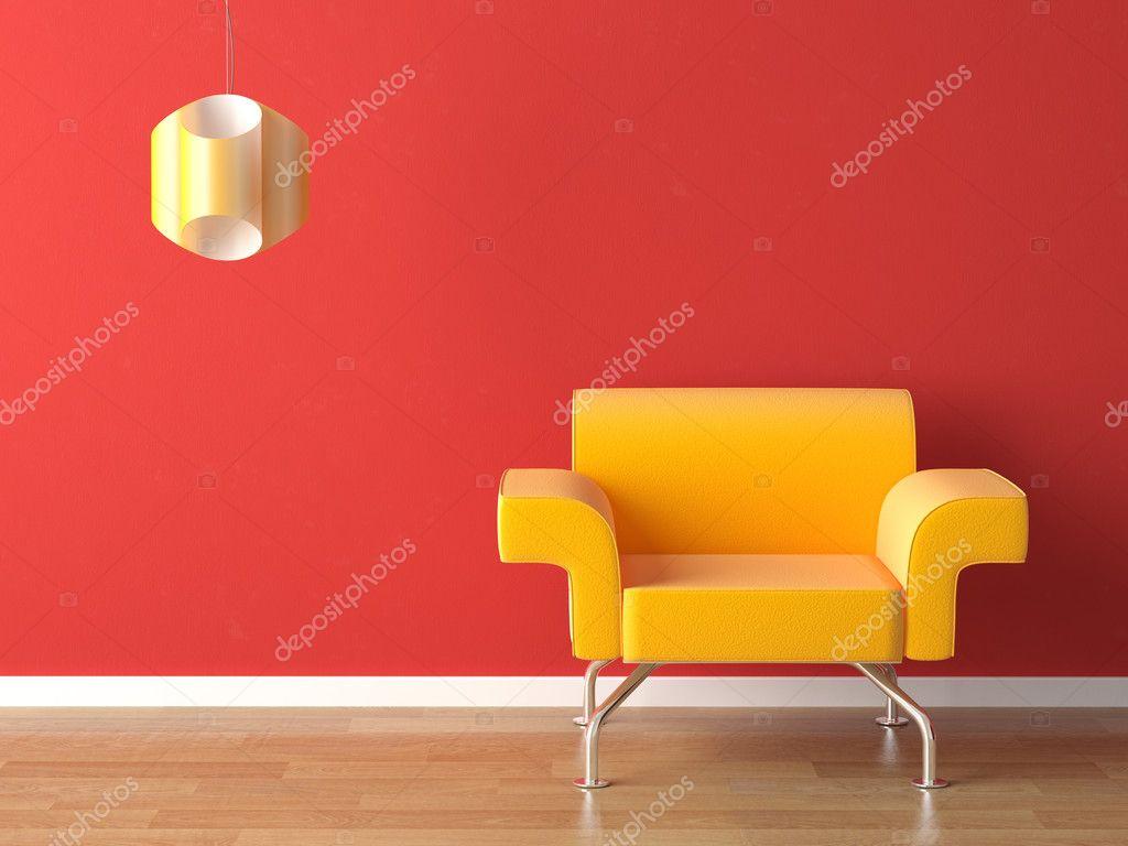 Design Luie Stoel.Interieur Design Geel Op Rood Stockfoto C Arquiplay77 8212977