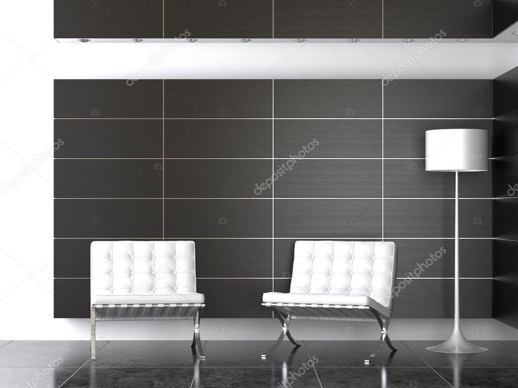 Moderne Lampen 82 : Interior design moderne schwarz weiß rezeption u2014 stockfoto