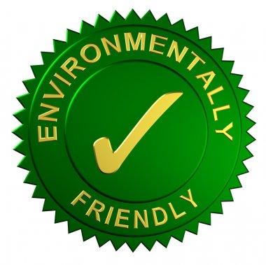 Metallic seal with the words Environmentally Friendly stock vector