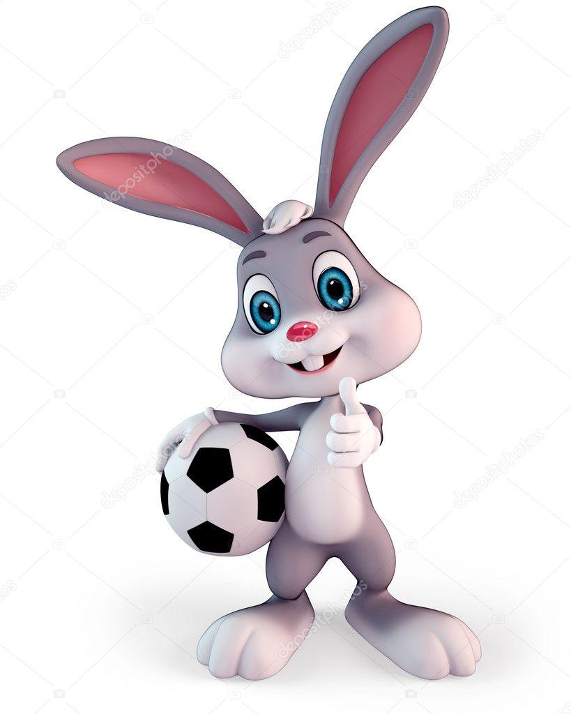 Afbeeldingsresultaat voor paashaas met voetbal