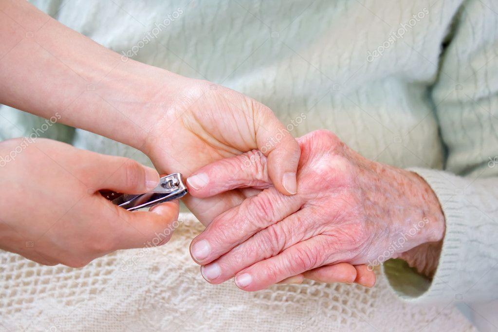 Cutting fingernails