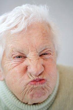 Senior Woman Grimacing