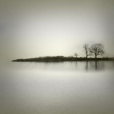 Landscape in sepia tones