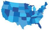 Kék Usa állami Térkép