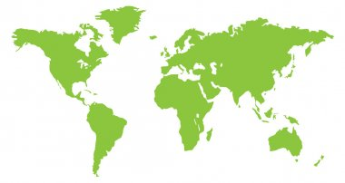 Green World continent map