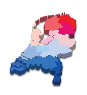 Netherlands province map