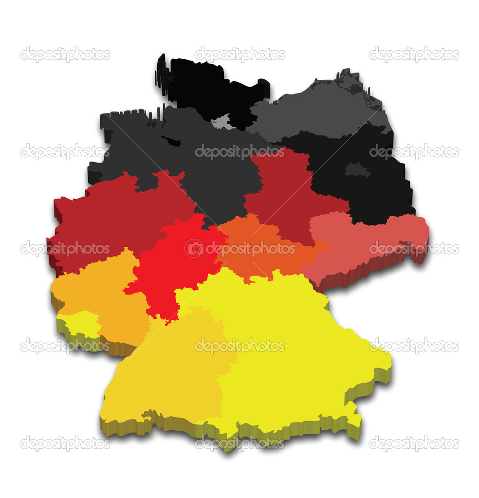 Germany Province Map Stock Vector C Tangducminh 10562606