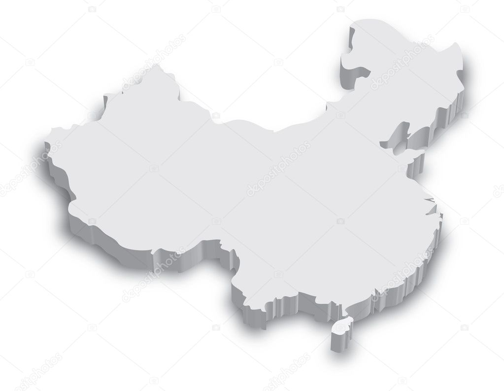 China mapa 3d — Vector de stock © tangducminh #10562633