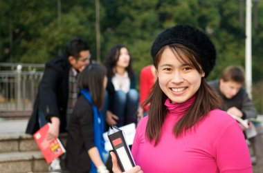 Asian Student smiling