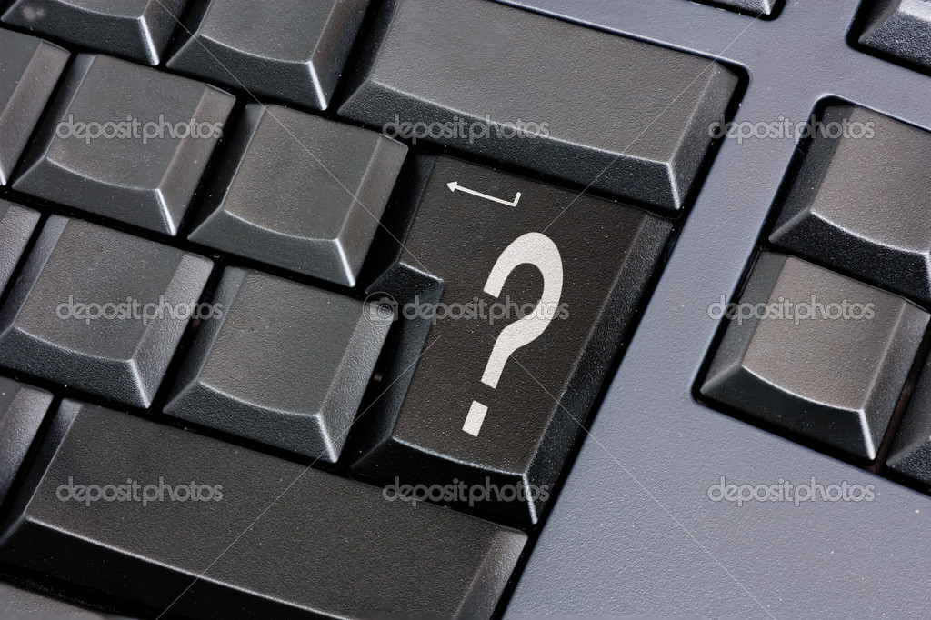 Question Mark On Black Enter Key Stock Photo Ermess 8377559