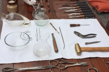 Antique dentist tools