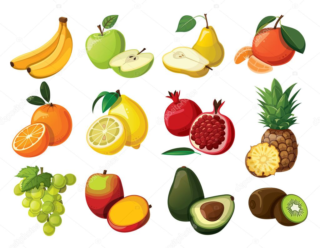 A set of delicious fruit.