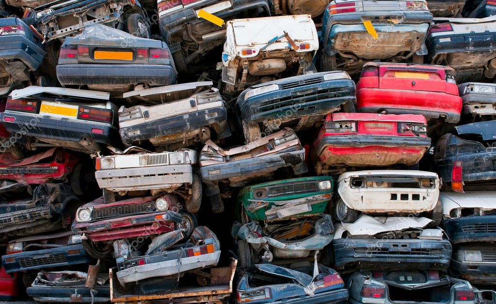 Scrap cars for recycling — Stock Photo © mpalis #8312631