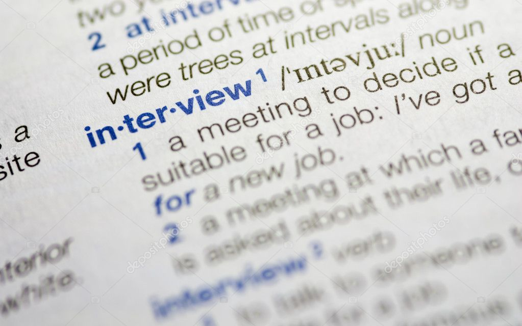 Interview word definition — Stock Photo © mpalis #8325405
