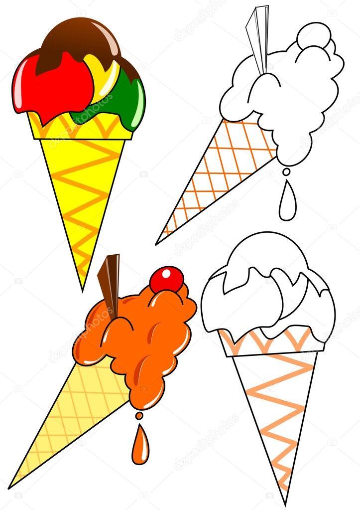 Imágenes: helado para colorear | para colorear - helado — Foto de ...