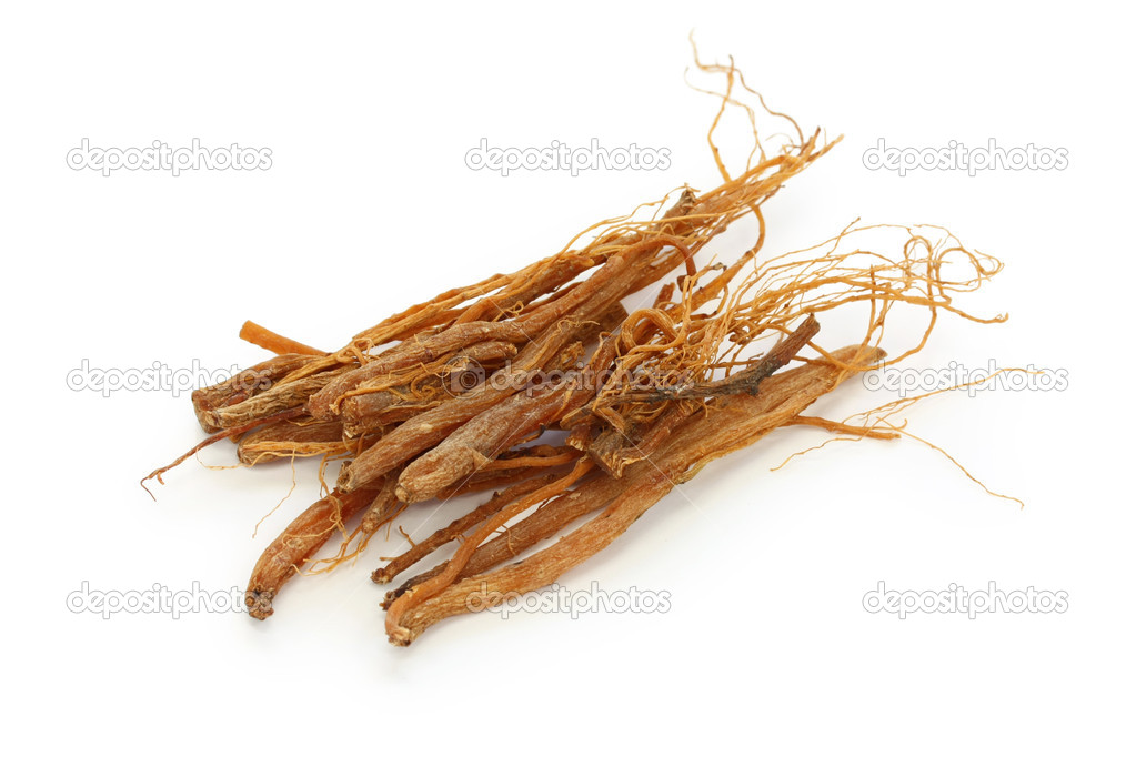 Ginseng roots, traditional chinese herbal medicine