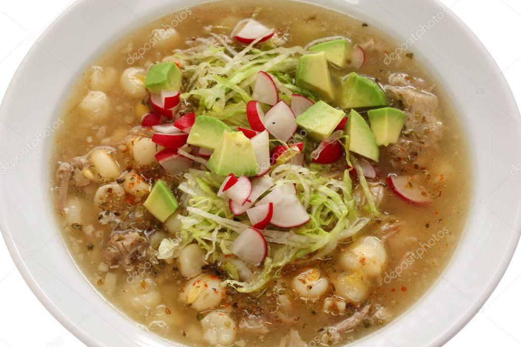 Pozole Kuchnia Meksykańska Zupa Zdjęcie Stockowe