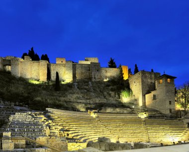 Old Roman theater in Malaga