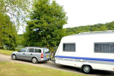 Caravan at a camping