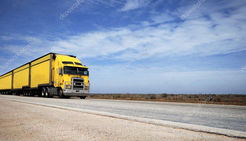 Road train in Australia