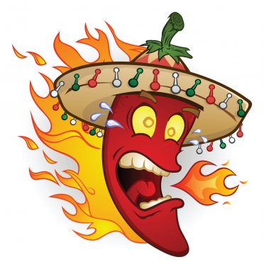 Flaming Sombrero Chili Pepper