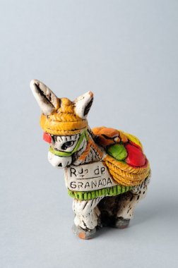 Donkey .Figure of ceramic from Spain.