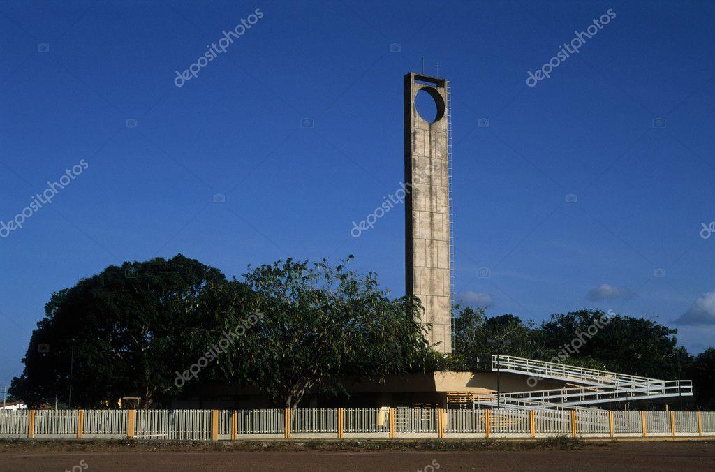 Monumento marco cero. Amazonas — Fotos de Stock © CarlosMora #8371187