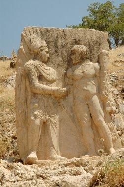 Historic monument on Mount Nemrut in Turkey