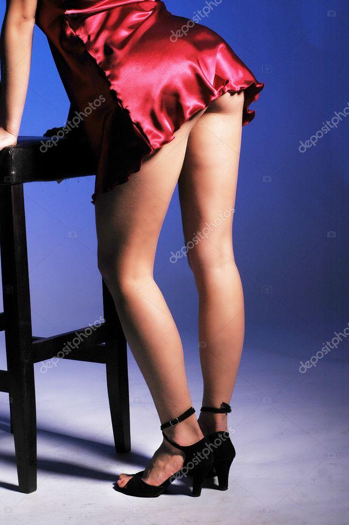 High Heels Black Stockings
