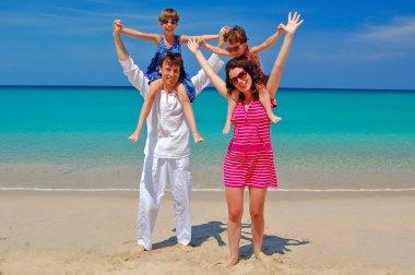 Family beach vacation, summer