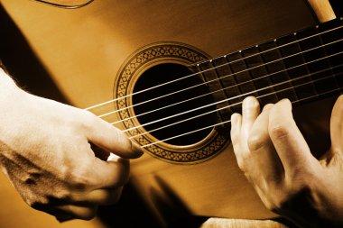 Guitar music art.