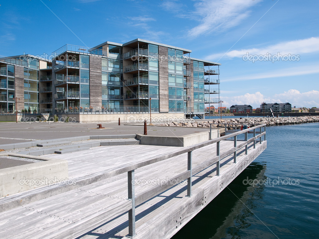 Modern Seaside Waterfront Apartments Building U2014 Stock Photo