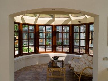 Sunny solarium conservatory sun room