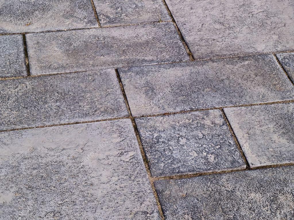 Dettagli di pietra grigia piastrelle da giardino u foto stock