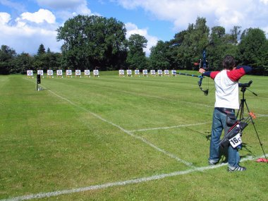 Archery competition - archer shooting