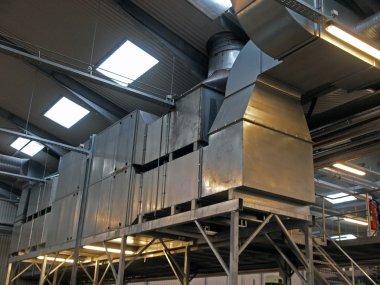 Industrial factory plant HVAC ventilation