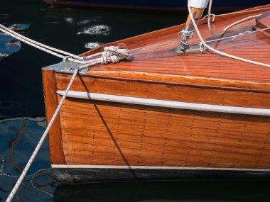 Classic beautiful wooden sailing yacht